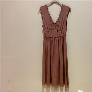 Mossimo Flowy Dress Brown Size XSmall